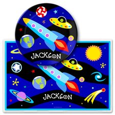 Out of This World Personalized Meal Time Plate Set