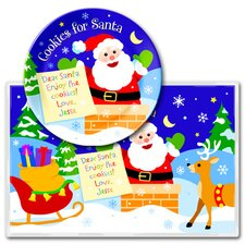 Christmas Cookies for Santa Personalized Meal Time Plate Set