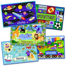 Boys 5 Pack Personalized Placemats