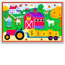 Fall Season Farm Personalized Placemat