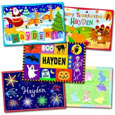 Holiday Five Pack Personalized Placemat