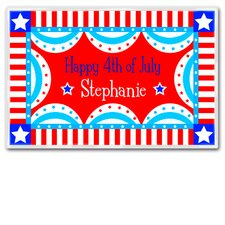 Fourth of July Flag Personalized Placemat