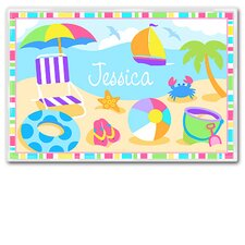 <strong>Olive Kids</strong> Summertime Girls Personalized Placemat