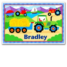 Trains, Planes and Trucks Tractor Personalized Placemat