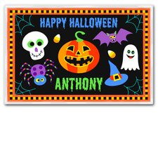 Halloween Black Personalized Placemat