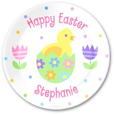 <strong>Olive Kids</strong> Easter Chicks Personalized Kids Plate