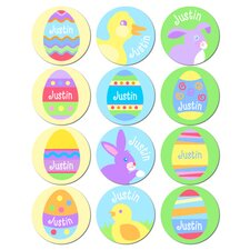 Personalized Boys Easter Stickers (Set of 60)