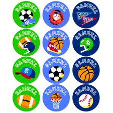 Game On Personalized Stickers (Set of 60)