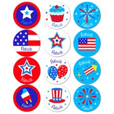 4th of July Personalized Stickers (Set of 60)