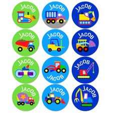 Under Construction Personalized Stickers (Set of 60)