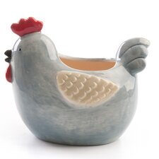 Chirpy Chicks Chicken Pot in Blue