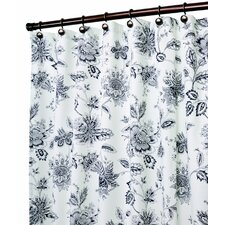Winston Polyester Floral Print Shower Curtain