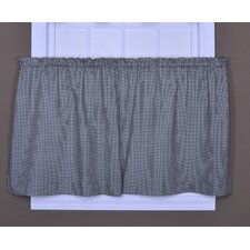Logan Gingham Check Print Tier Curtain