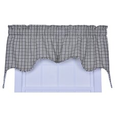 "Bristol Plaid Empress Lined 70"" Curtain Valance"