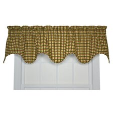 Charlestown Check Cotton Lined Valance