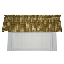 Charlestown Check Cotton Valance Window Curtain