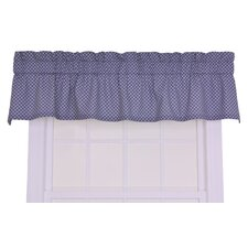 Tremblay / Tyvek Cotton Small Scale Diamond Valance Window Curtain