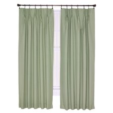 Crosby Pinch Foamback Patio Pleated Curtain Single Panel