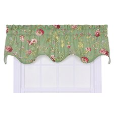 Coventry Cotton Blend Rod Pocket Scalloped Curtain Valance