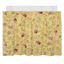 Coventry Cotton Blend Rod Pocket Tailored Tier Curtain