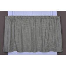 Logan Gingham Check Print Tier Curtain