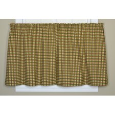 Charlestown Check Pocket Rod Tier Curtain