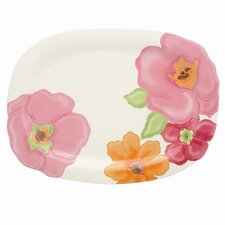 Floral Fusion Oval Serving Tray