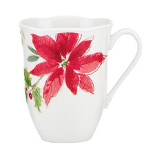 Winter Meadow Poinsettia Mug