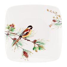 Winter Song Square Accent Plate