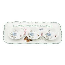 <strong>Lenox</strong> Butterfly Meadow Sentiment Hors D'oeuvres Serving Tray