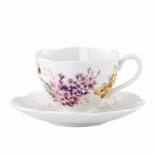 <strong>Lenox</strong> Butterfly Meadow 8 oz. Orange Sulphur Cup and Saucer