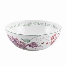 "Butterfly Meadow Sentiment 9"" Serving Bowl"