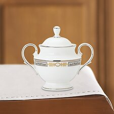 <strong>Lenox</strong> Silver Applique 10 oz. Sugar Bowl with Lid