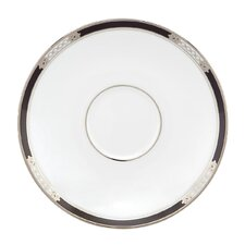 "Hancock Platinum White 6"" Tea Saucer"