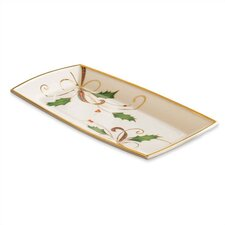 <strong>Lenox</strong> Holiday Nouveau Towel Rectangle Serving Tray