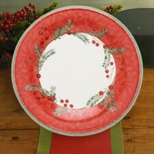"Holiday Wreath 9"" Accent Plate"