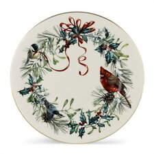 "Winter Greetings 10.75"" Dinner Plate"