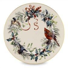 "Winter Greetings 8"" Salad Plate"