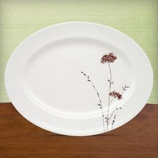 "Flourish 16"" Oval Platter"