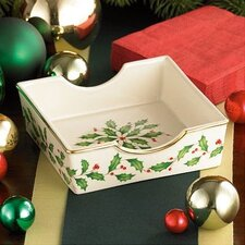 Holiday Napkin Holder with Red Napkins