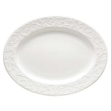 <strong>Lenox</strong> Opal Innocence Carved Oval Platter
