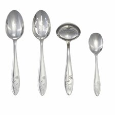 <strong>Lenox</strong> Butterfly Meadow 4 Piece Flatware Serving Set