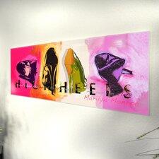 Glasbild Highheels - 33 x 95 cm
