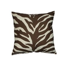 Zebra Synthetic Square Pillow