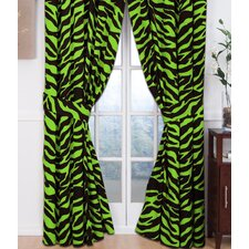 Brown Zebra Curtain Panel Pair
