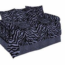 Zebra Daybed Ensemble 5 Piece Comforter Set