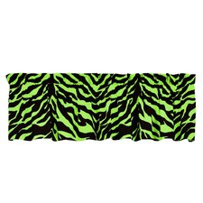 Lime Zebra Cotton Curtain Valance