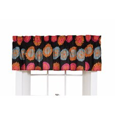 Flower Fantasy Rod Pocket Tailored Curtain Valance