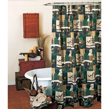 Dogs and Ducks Cotton Blend Shower Curtain