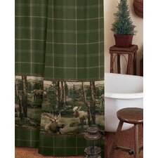 Moose Mountain Cotton/Polyester Shower Curtain